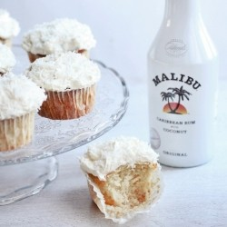 Malibu Rum Coconut Cream Cupcakes Recipe
