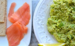 Mashed Fava Bean and Smoked Salmon Flatbread Recipe