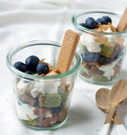 Matcha Castella Blueberry Verrine
