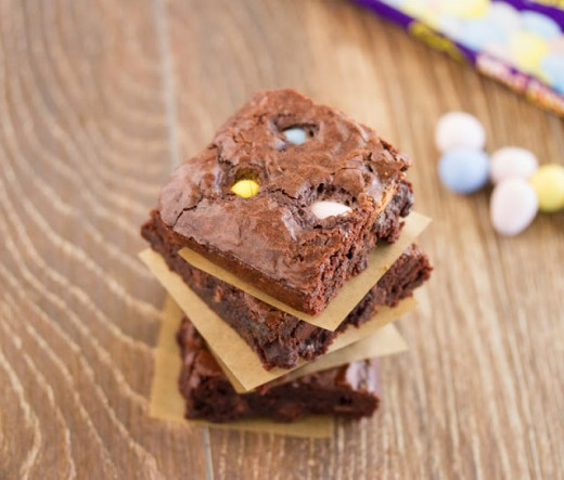 Mini Cadbury Egg Brownies
