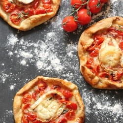 Mini Cherry Tomato and Goats Cheese Galettes with Buttermilk Pastry Recipe
