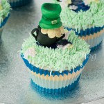 Mint Cupcake with Leprechaun's Pot of Gold Recipe