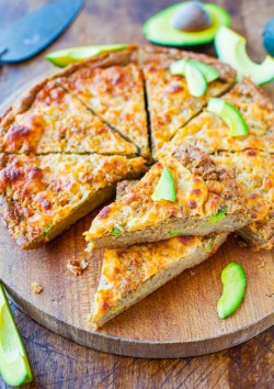 30-Minute Cheesy Avocado Skillet Pizza Bread Recipe