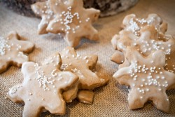 Orange Scented Gingerbread Cookies with an Apple Cider Glaze Recipe