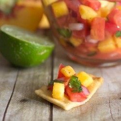Peach Heirloom Tomato Salsa Recipe