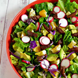 Pepper Steak Salad Recipe