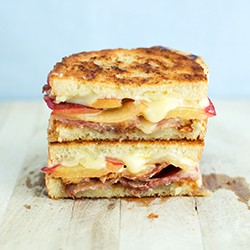 Plum Bacon Blue Cheese Brie Grilled Cheese Sandwich Recipe