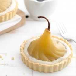 Poached Pear and Custard Tarts Recipe