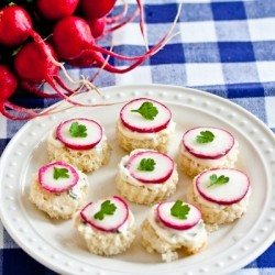 Radish Tea Sandwiches