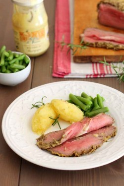 Roast Beef with Rosemary and Mustard Recipe