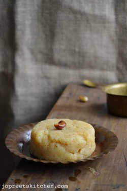 Semolina and Peach Pudding Recipe