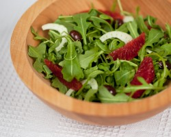 Sicilian Salad with Blood Oranges Fennel Black Olives and Arugula