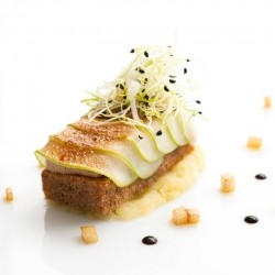 Spice Bread with Apple and Foie