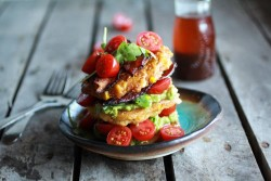 Avocado and Melty Gouda BLT Corn Fritters Recipe