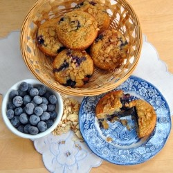 Blueberry Almond Oat Muffins Recipe