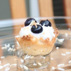 Blueberry Coconut Macaroon Tartlets
