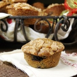 Blueberry Gingerbread Muffins Recipe