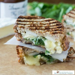 Brie Fig Pear Panini Recipe