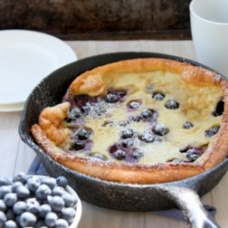 Brown Butter Blueberry Dutch Baby Pancake Recipe