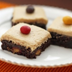 Brownies with Peanut Butter Cream Cheese Frosting