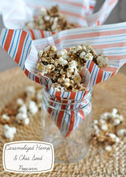 Caramelized Hemp Chia Seed Popcorn Recipe