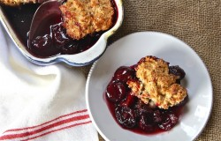 Cherry Cobbler with Coconut Biscuit Recipe