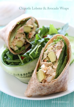 Chipotle Lobster and Avocado Wrap Recipe