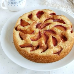 Cinnamon Sugar Plum Cakes