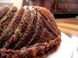Double Chocolate Peppermint Chocolate Chip Bundt Cake