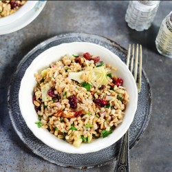 Farro Salad with Artichoke Hearts Recipe