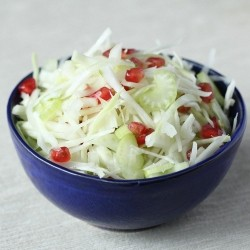 Fennel Celery Pomegranate Coleslaw