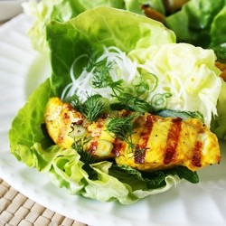 Grilled Catfish Lettuce Wraps