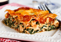 Healthy Chicken and Spinach Lasagna Recipe