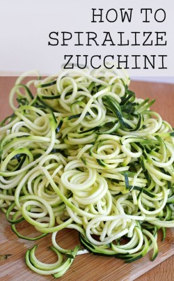 How to Spiralize Zucchini Recipe