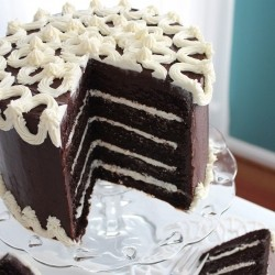 5 Layer Chocolate Cake with Marshmallow Creme Frosting