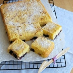 Lemon Blueberry Cornmeal Cake Recipe