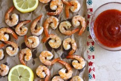 Lemon Roasted Shrimp with Homemade Cocktail Sauce