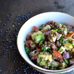 Lentil Salad with Hearts of Palm and Avocado Recipe