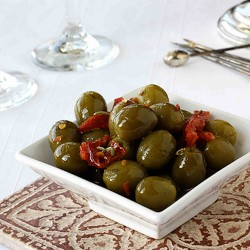 Marinated Olives with Sun Dried Tomatoes and Fennel
