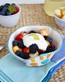 Mixed Berries with Key Lime Simple Syrup Recipe