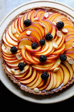 Peach Blackberry Tart Recipe