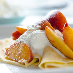 Peaches and Cream Crepes Recipe