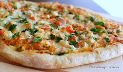 Roasted Garlic Chicken Pizza