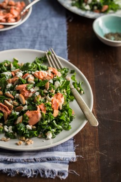 Roasted Salmon and Kale Salad Recipe