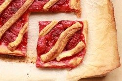 Roasted Strawberry Danish Tart Recipe
