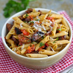 Roasted Tomato Chicken Sausage Whole Wheat Pasta
