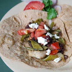Roasted Veggie Tacos with Goat Cheese Recipe