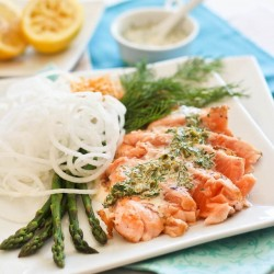 Salmon Tataki and Lemon Dill Sauce Recipe
