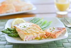 Salmon with Honey Mustard Sauce Recipe