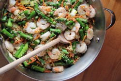 Shrimp with Couscous and Asparagus